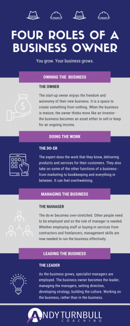 Four Roles of a Business Owner Infographic